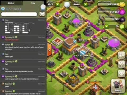 Spamming with Ascii Art - Clash of Clans