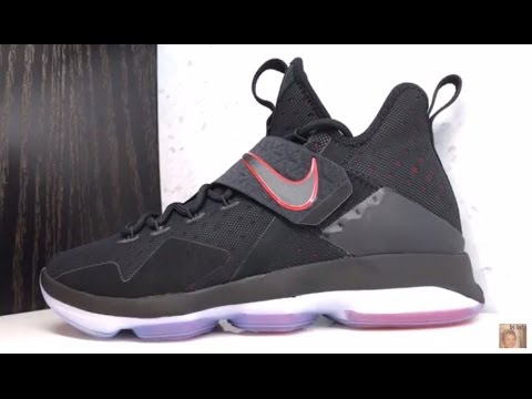 53aea420d052 NIKE LEBRON 14 BRED + RED CARPET SNEAKER - YouTube