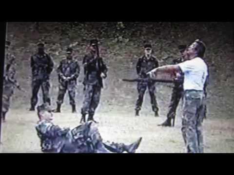 Marine Corps rifle and bayonet training MSgt. Arcenio Advincula