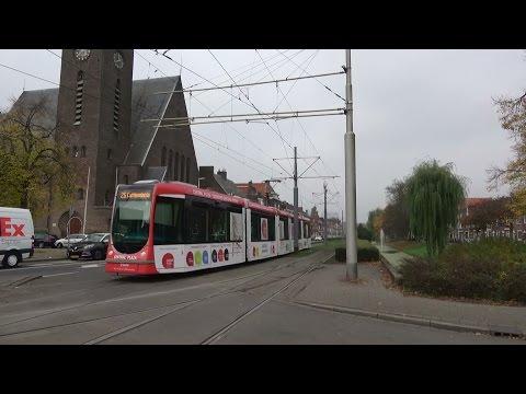 RET Alstom Citadis 2044 Central Plaza reclametram Breeplein te Rotterdam | tramlijn 25