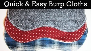 How to make a Quick, Easy & Cute Baby Burp Cloth