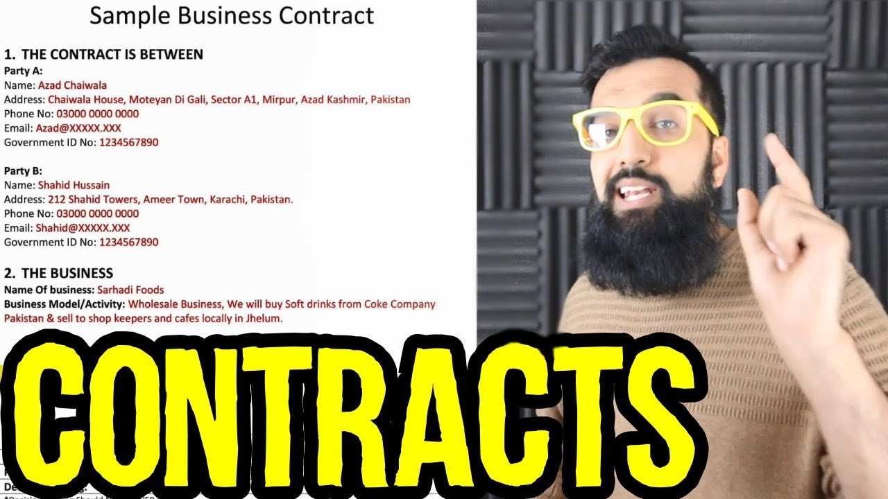 Business Partnership Contract | Free Business Partnership Contract Template For Pakistani And Indian