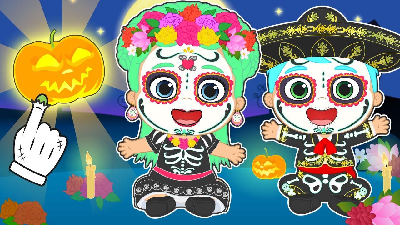 ALEXY LILY Se disfrzan de Catrina en Halloween