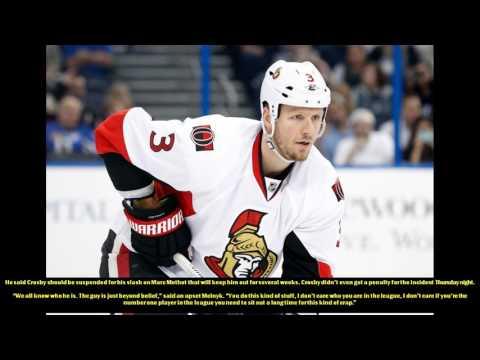 Melnyk livid over Crosby slash on Methot