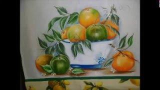Como pintar laranja madura e verde – Simone Moraes