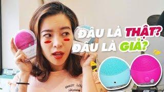 Phân biệt máy rửa mặt FOREO THẬT và GIẢ ♡ Hana Giang Anh