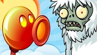 Plants Vs. Zombies 2 - Frostbite Caves Yeti Gameplay Walkthrough