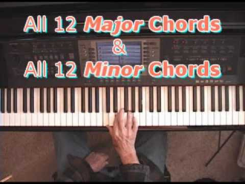 Major Piano Chords Minor Piano Chords Learn All 24 Quickly Youtube