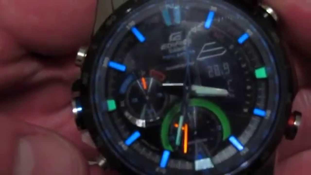 9d5e396a58ee Casio EDIFICE ERA-300DB NEON ILLUMINATOR (HD) - YouTube