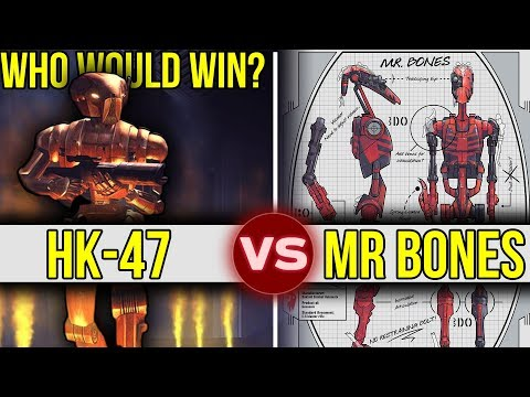 HK-47 vs Mr. Bones - Battle of the Killer Droids | Star Wars: Who Would Win