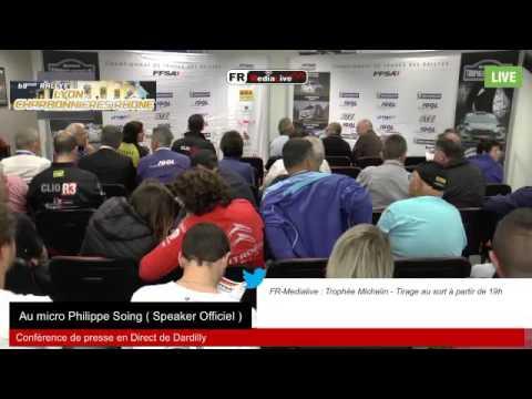 Rallye Lyon Charbonnière Rhône 2016 - Conférence de presse pilotes
