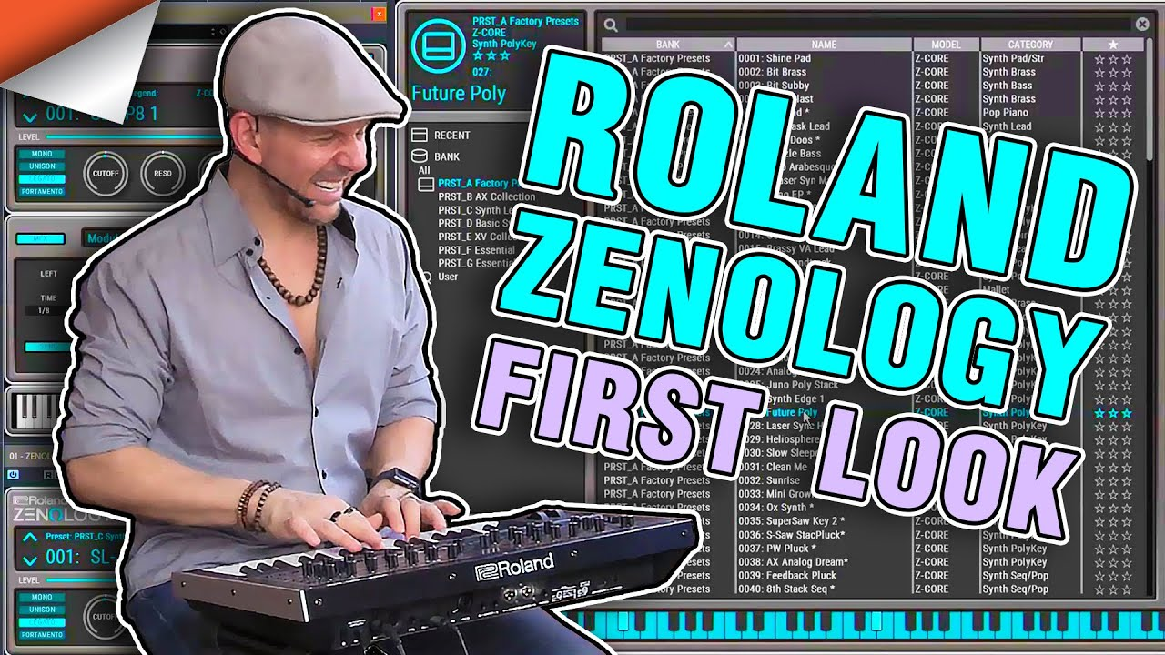 Roland Zenology Plugin Synthesizer Demo & Fun