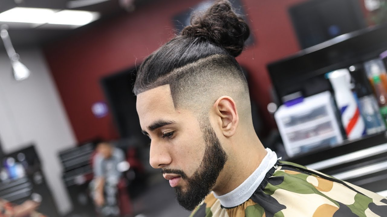 Barber Tutorial How To Fade A Undercut Man Bun Step By