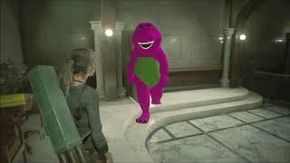 Lara Croft Versus Barney On Resident Evil 2 Remake