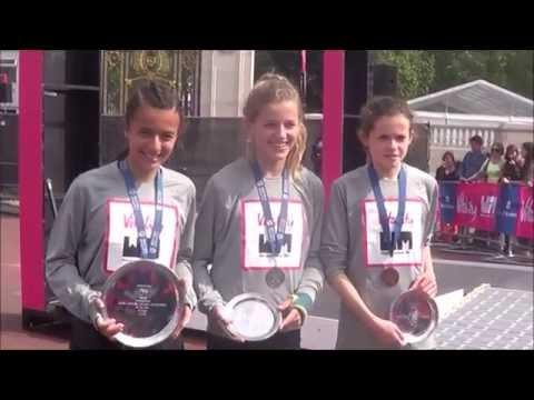 Vitality Westminster Mile ( British Road Mile Championship U/15 Girls 2016 ) ماشاء الله