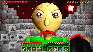 I FOUND BALDIS BASICS in MINECRAFT! *EXTREMELY CREEPY*