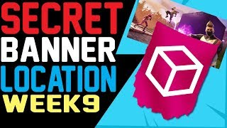 Fortnite SECRET BANNER LOCATION WEEK 9 Road Trip Challenges Temporada 5 Hidden Battle Star