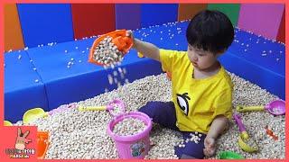 타요 키즈카페 어린이 놀이 미니가 간다 #3 ♡ 편백 배 놀이 Tayo kids cafe toys тайо автобус Игрушки | 말이야와아이들 MariAndKids