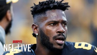 Antonio Brown requests trade from the Steelers | NFL Live