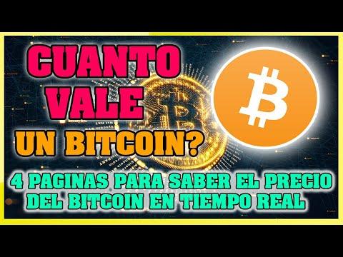 ¿Cuanto Cuesta O Vale Un Bitcoin? 2020  4 Paginas Para Saber El Precio Del BITCOIN En TIEMPO REAL✔️