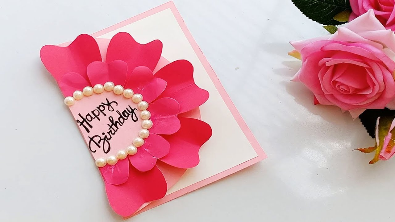How To Make Handmade Birthday Card Diy Birthday Card Birthday Cards Diy Greeting Cards Handmade Birthday Birthday Card Craft