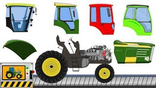 Play Tractor with Baby Dino | Agriculture Tractor Silhouette - What Cabins, Wheels? Kids Videos
