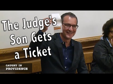 The Judge's Son Gets a Ticket