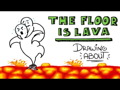 THE FLOOR IS LAVA (El suelo es lava) | Drawing About