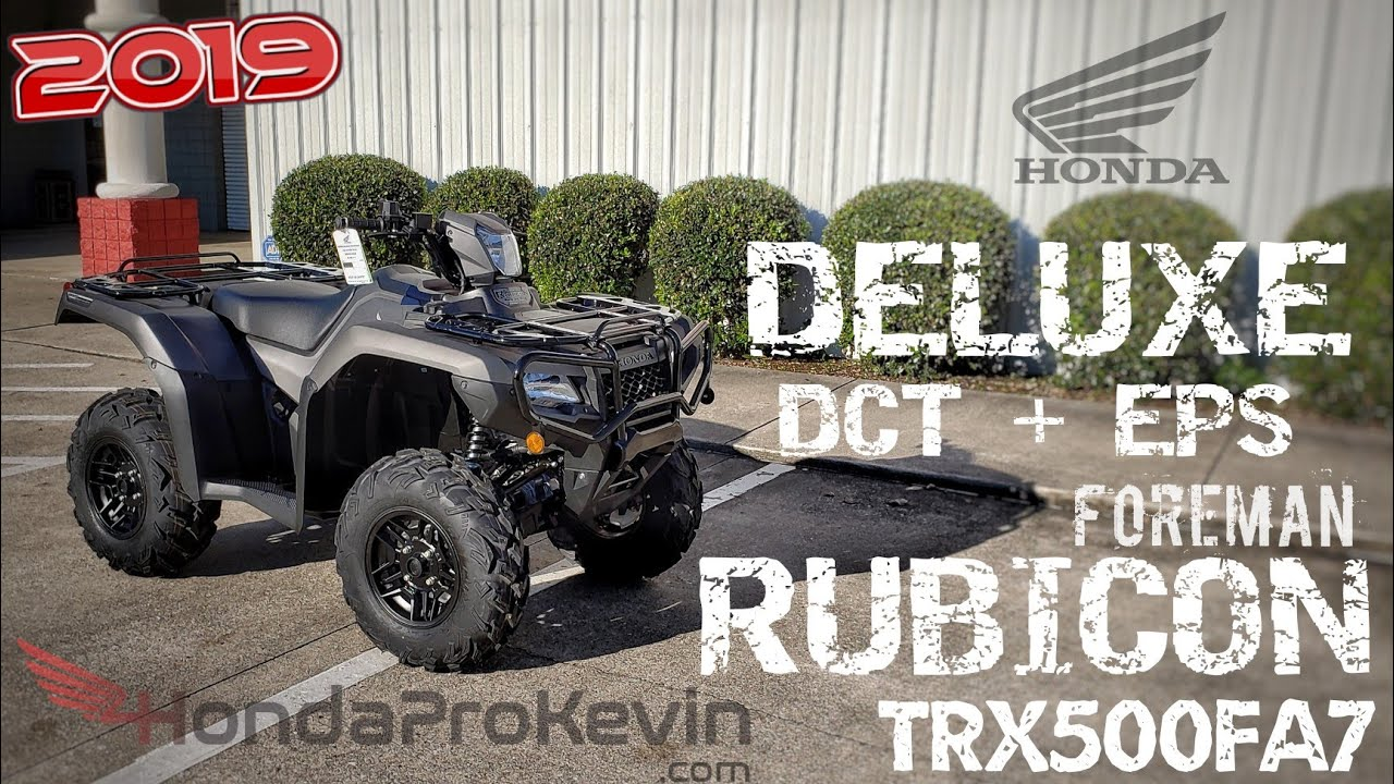 medium resolution of 2019 honda foreman rubicon 500 deluxe dct eps walk around trx500fa7 fourtrax atv 4x4