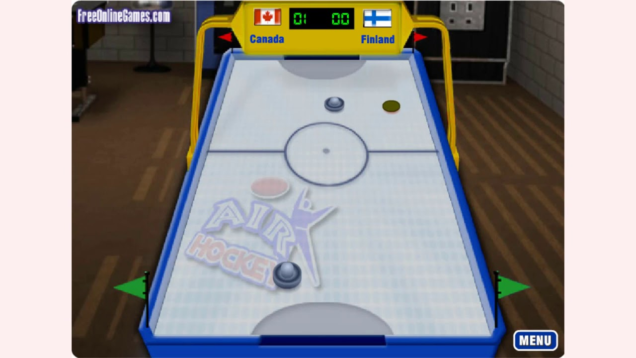 How To Play Air Hockey Fog Game Free Pc Mobile Online Games Gamejp Net Youtube
