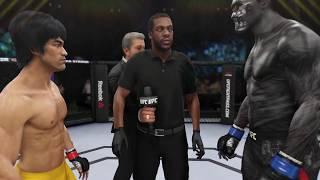 Bruce Lee vs. Xenomorph (EA Sports UFC 3) - CPU vs. CPU