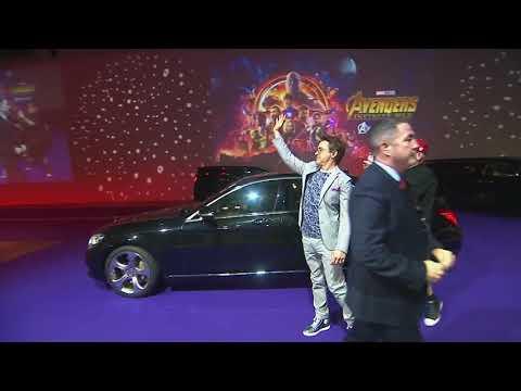Robert Downey Jr. Interview and Red Carpet Avengers Infinity War & Benedict Cumberbatch.