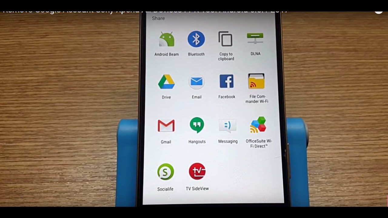 Remove Google Account Sony Xperia All Devices FPR Tool Android 6 0 1 2017