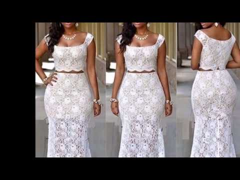 African Couture: Glamorous designs of African print  and  lace gowns