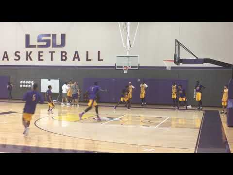 Watch LSU's first basketball practice of the 2017-18 season