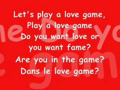 love game - Lady GaGa (Lyrics)