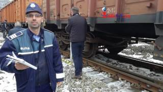 Tren deraiat la Resita la Gara de Sud