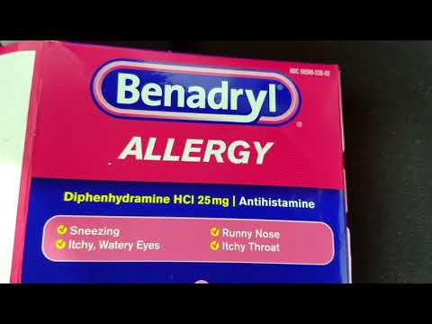 Benadryl and Claritin-D 24 Hour Drug Interactions