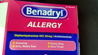 How To Use Benadryl Antihistamine Allergy Tablets Review