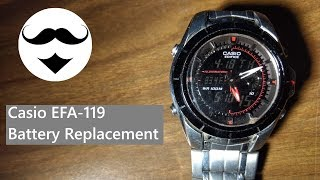 casio Edifice EFA-119 Battery Replacement