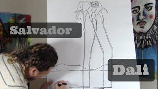 Salvador Dali Drawing Lesson