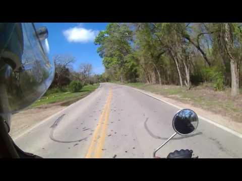 1971 Honda CL350 Riding Down Hairy Man Road
