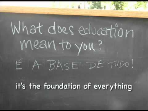 What does education mean?