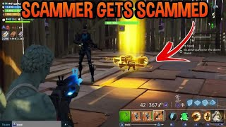 Scammer Gets Scammed For Pumpkin Launcher! (MUST WATCH) FORTNITE