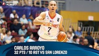 Carlos Arroyo 32 PTS / 10 AST vs San Lorenzo - Semifinal #2 - DIRECTV Liga de las Americas 2017