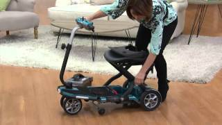EV Rider TranSport Folding Mobility Travel Scooter with Sandra Bennett