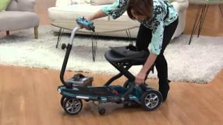 EV Rider TranSport Folding Mobility Travel Scooter with Sandra Bennett