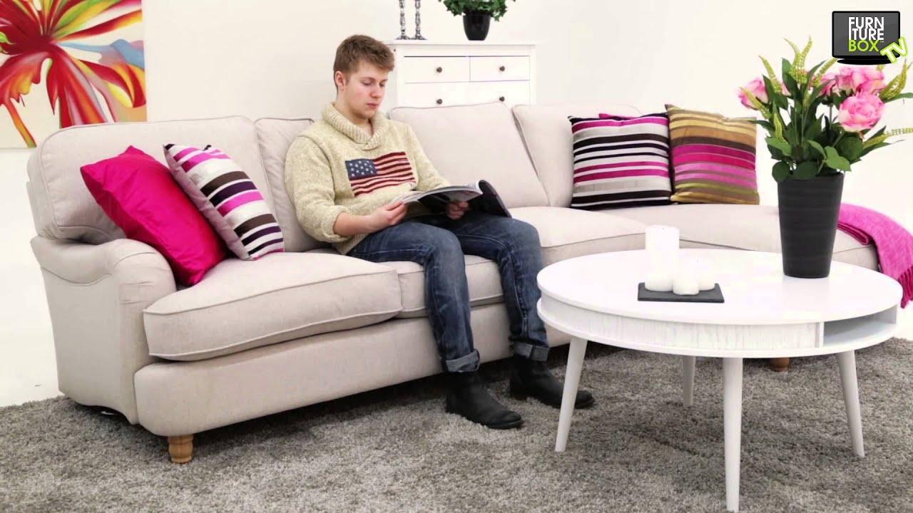 Howard Lux Dun 4 Sits Soffa Vänster Med Divan Beige Furniturebox Youtube