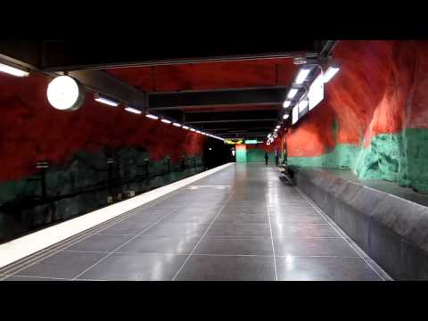 Stockholm - The most beautiful metro station - Solna Central