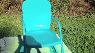 Revamping metal chairs